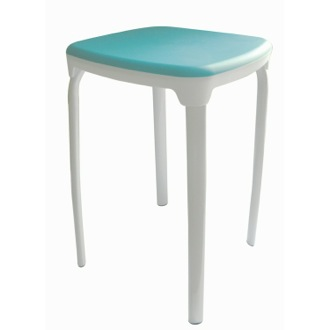 Stool Rounded Square Stool With Multiple Finishes Gedy 5172