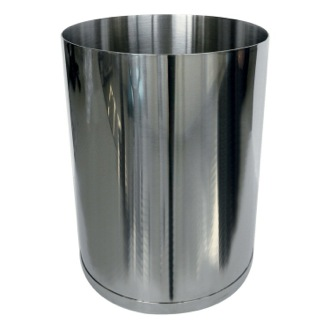 Waste Basket Round Stainless 1.74 Gal Waste Basket 5209-13 Gedy 5209-13