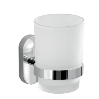 Glass Toothbrush Holder With Chrome Mounting Gedy 5310-13