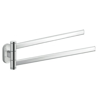 Polished Chrome Dual Swivel Towel Bar Gedy 5323-13