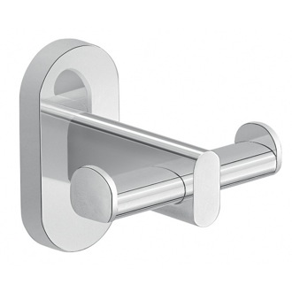 Wall Mounted Chrome Double Bathroom Hook Gedy 5326-13