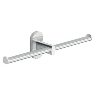 Wall Mounted Chrome Double Toilet Paper Holder Gedy 5329-13
