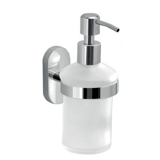 Wall Mounted Frosted Glass Soap Dispenser Gedy 5381-13