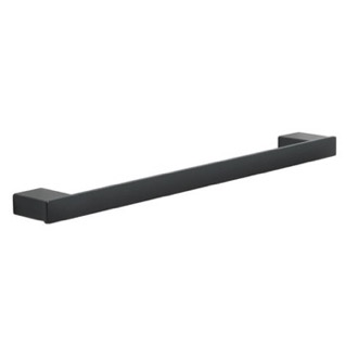 Square 18 Inch Towel Bar In Matte Black Gedy 5421-45-M4