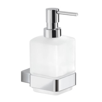 Wall Mounted Frosted Glass Soap Dispenser Gedy 5481-13