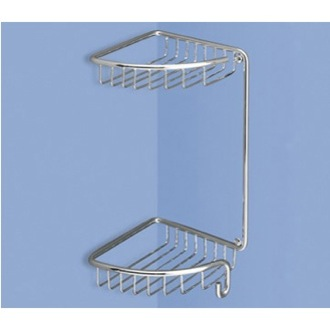 Shower Basket Wire Corner Double Shower Basket 5681 Gedy 5681