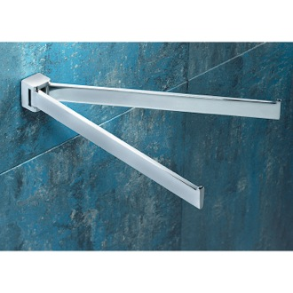 12 Inch Polished Chrome Double Swivel Towel Bar Gedy 5723-13