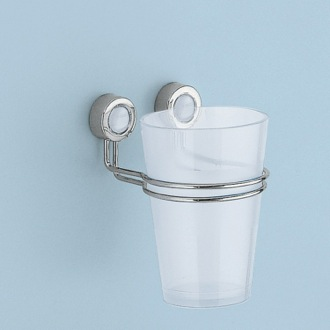Transparent Tumbler with Chrome Mounting Gedy 7410-P2