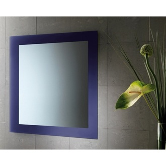24 x 28 Inch Blue Vanity Mirror With Lacquered Frame Gedy 7800-05