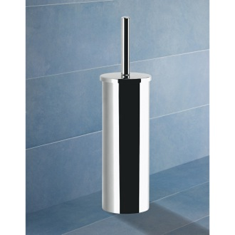 Toilet Brush Round Chrome Toilet Brush Holder Gedy 7833-13