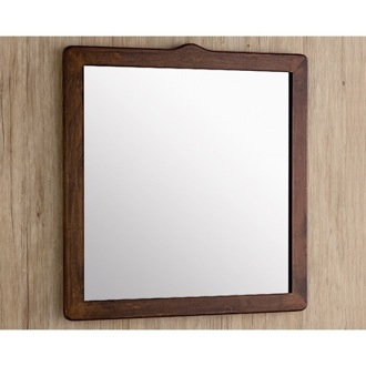 Vanity Mirror 22 x 26 Inch Old Walnut Vanity Mirror Gedy 8100-95