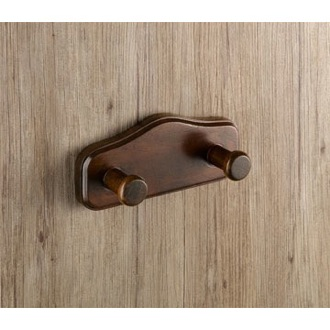 Bathroom Hook Wood Double Hook 8126-95 Gedy 8126-95
