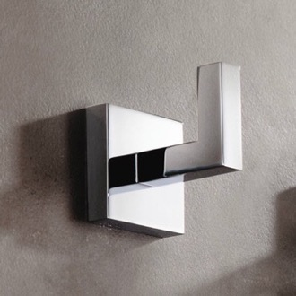 Modern Square Wall Mounted Chrome Bathroom Hook Gedy A026-13