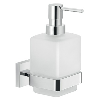 Wall Frosted Glass Soap Dispenser With Chrome Mounting Gedy A081-13