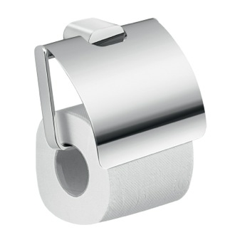 Toilet Paper Holder Modern Brass and Cromall Square Toilet Paper Holder with Cover A125-13 Gedy A125-13