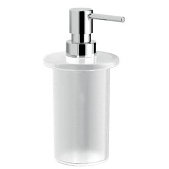 Soap Dispenser Frosted Glass Soap Dispoenser With Chrome Pump Gedy A155-S2