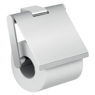 Toilet Paper Holder Square Wall Mounted Chrome Toilet Paper Holder with Cover A225-13 Gedy A225-13