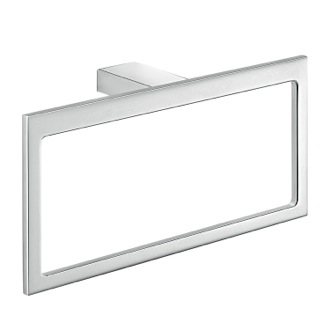 Rectangular Wall Mounted Polished ChromeTowel Ring Gedy A370-13