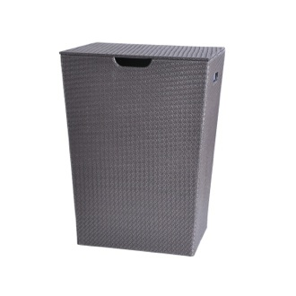 Laundry Basket Rectangular Laundry Basket Made From Faux Leather Available in Three Finishes 6739 Gedy 6739