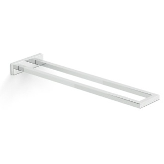 Stylish Rectangular Chrome Towel Bar with Two Rails Gedy A022-13