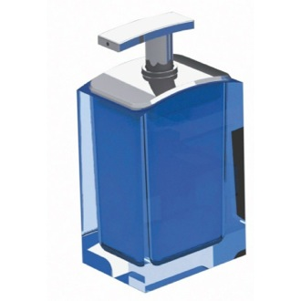 Soap Dispenser Light Blue Free Standing Soap Dispenser AT80-11 Gedy AT80-11