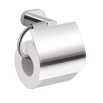 Toilet Paper Holder Chrome Wall Mounted Toilet Paper Holder with Cover BE25-13 Gedy BE25-13