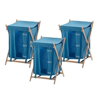 Light Blue Laundry Baskets Gedy BU380-11