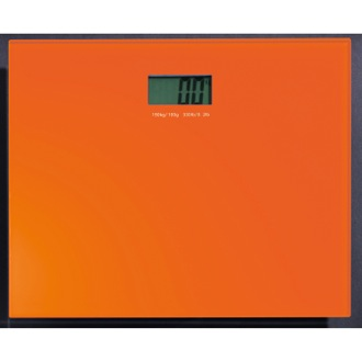 Square Orange Electronic Bathroom Scale Gedy RA90-67