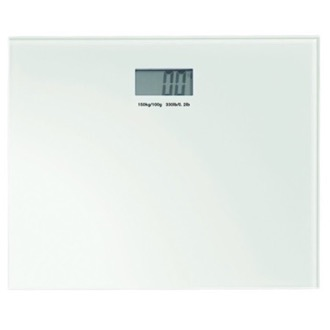 Square White Electronic Bathroom Scale Gedy RA90-02