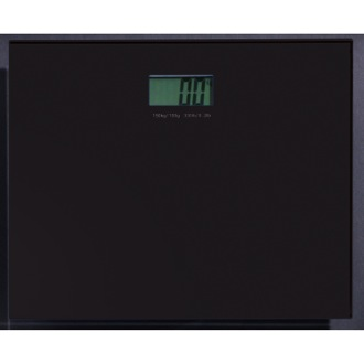Square Black Electronic Bathroom Scale Gedy RA90-14