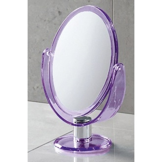 Makeup Mirror Trendy Free Standing Magnifying Two Faced Mirror Gedy CO2018-79