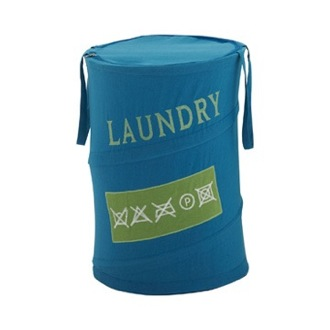 Laundry Basket Round Light Blue Laundry Basket CO38-11 Gedy CO38-11