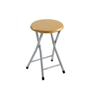 Bathroom Stool Foldable Stool Crafted Made of MDF and Steel Gedy CO73-98