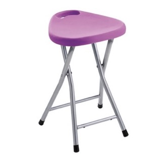 Chrome Bathroom Stool With Lilac Seat Gedy CO75-79