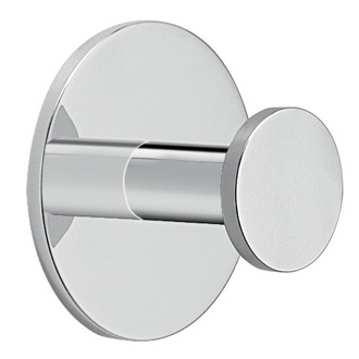 Adhesive Mounted Polished Chrome Aluminum Bathroom Hook Gedy D028