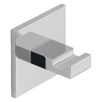 Adhesive Mounted Square Polished Chrome Aluminum Hook Gedy D127