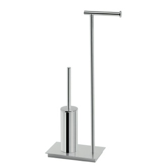 Bathroom Butler Floor Standing Chromed Brass and Stainless Steel Bathroom Butler D032-13 Gedy D032-13