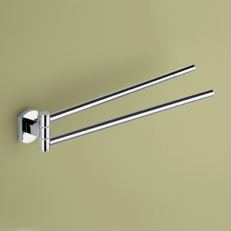 Swivel Towel Bar 14 Inch Double Swivel Polished Chrome Towel Bar ED23-13 Gedy ED23-13
