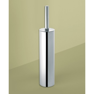 Round Polished Chrome Toilet Brush Holder Gedy ED34-13