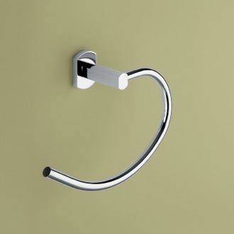 Polished Chrome Curved Towel Ring Gedy ED70-13