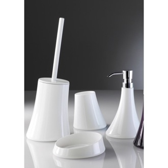 Bathroom Accessory Set Flou White Thermoplastic Accessory Set Gedy 1700-02