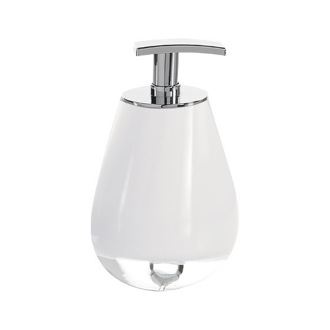 Soap Dispenser Round Free Standing Soap Dispenser Available in Three Finishes Gedy FO80