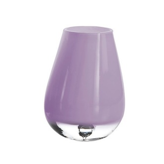 Toothbrush Holder Round Glass Tumbler in Lilac Finish FO98-79 Gedy FO98-79