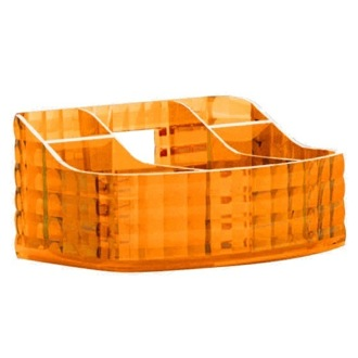 Make-up Tray Made From Thermoplastic Resin With Orange Finish Gedy GL00-67