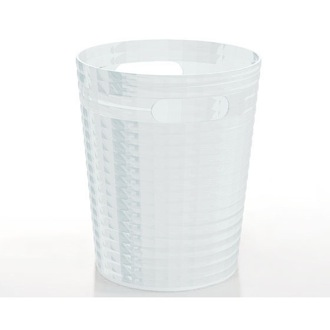 Free Standing Waste Basket Without Cover in Transparent Finish Gedy GL09-00