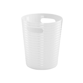 Waste Basket White Resin Bathroom Waste Basket GL09-02 Gedy GL09-02