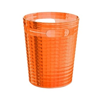 Free Standing Waste Basket Without Cover in Orange Finish Gedy GL09-67