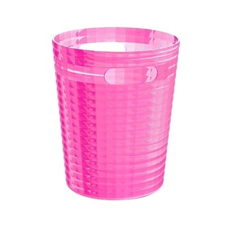 Free Standing Waste Basket Without Cover in Pink Finish Gedy GL09-76