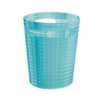 Waste Basket Free Standing Without Cover In Turquoise Finish Gedy Gl09 92