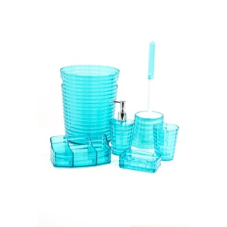 Great Bathroom Accessory Set Turquoise 6 Piece Bathroom Accessory Set Gedy  GL6081 92